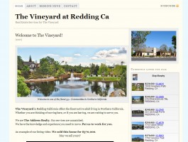 The vineyard in Redding california