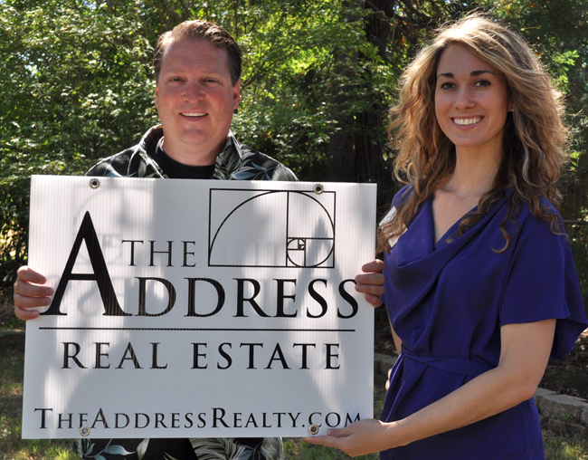 Craig Brandol and Erin Rader of the Address Realty