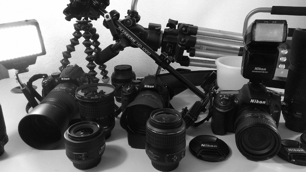 Seen here, our D5000, D5100, and D600 DSLRs. Click to expand.
