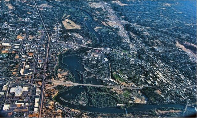 Redding from air